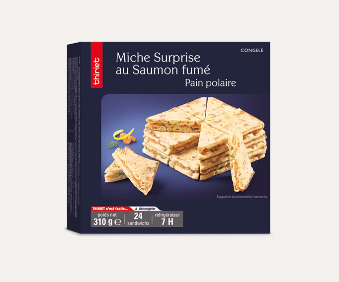 Miche surprise pain polaire au saumon fumé