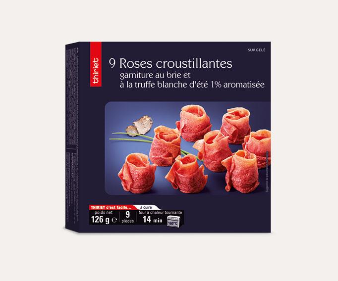 9 Roses croustillantes, garniture brie et truffe