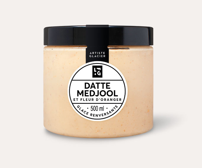 Crème glacée Datte Medjool et fleur d'oranger