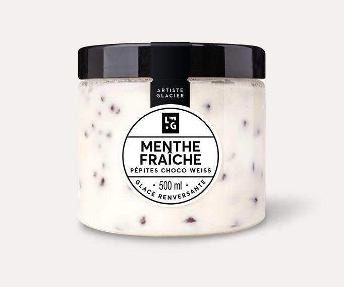 Crème glacée Menthe fraîche et pépites de chocolat Weiss