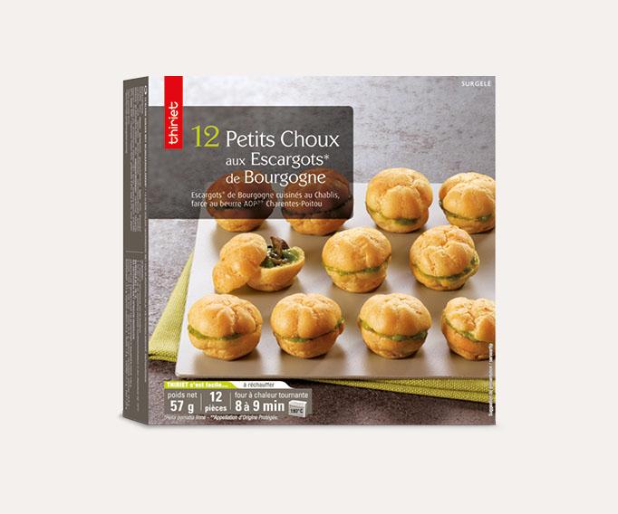 12 Petits choux aux escargots de Bourgogne