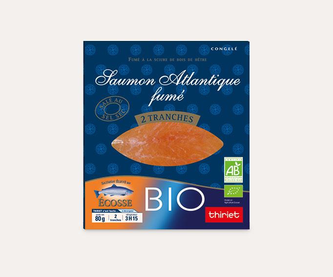 Saumon Atlantique fumé biologique - 2 tranches