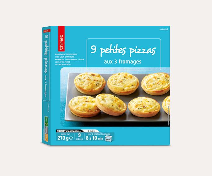 9 Petites pizzas aux 3 fromages