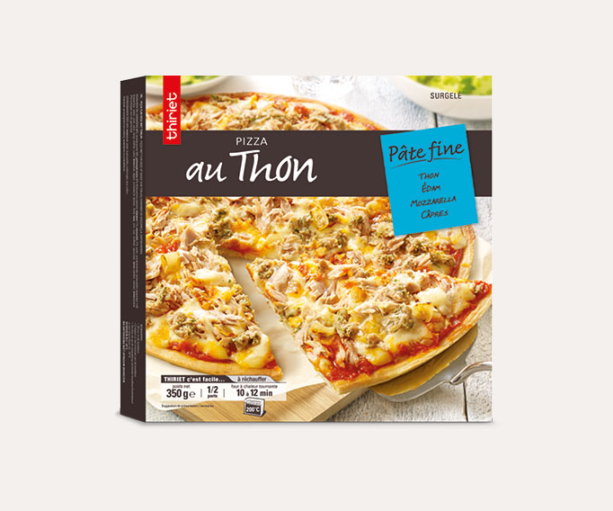 Pizza pâte fine thon