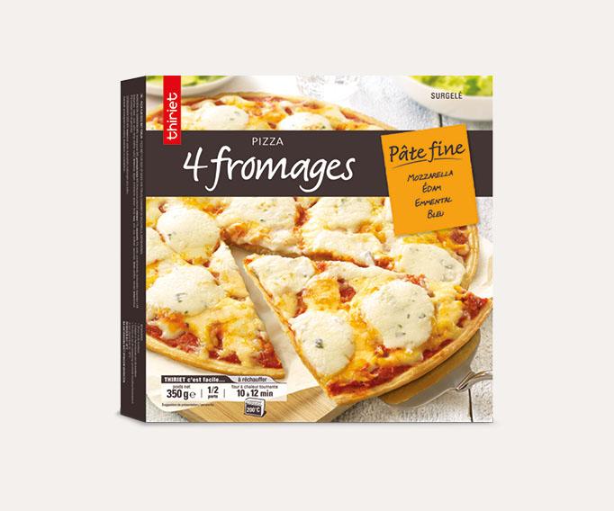 Pizzas pâte fine cuites sur pierre Lot de 2 boîtes au choix