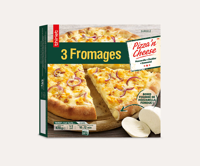 Pizza'n cheese™ 3 fromages Lot de 2 boîtes