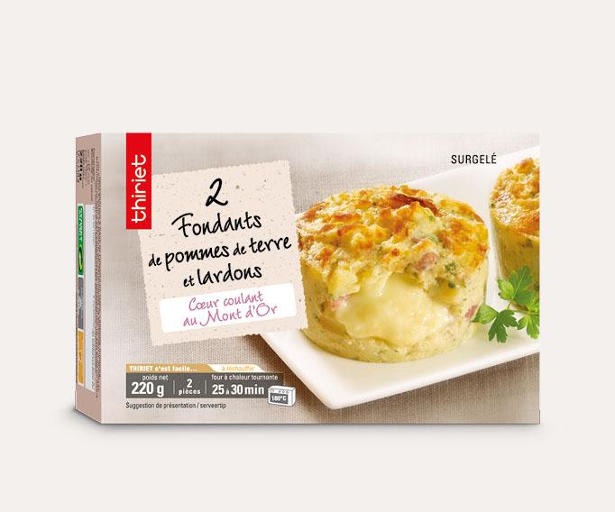 2 Fondants de pommes de terre et lardons Lot de 2 boîtes