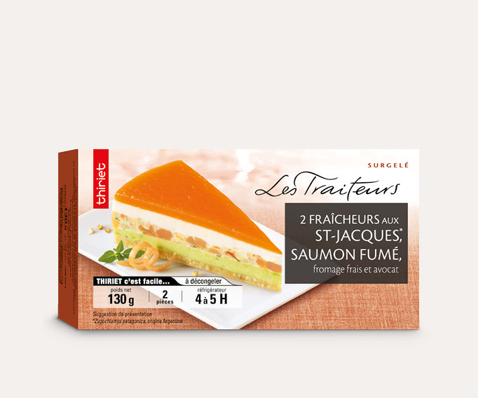 2 Fraîcheurs noix de St-Jacques, saumon fumé