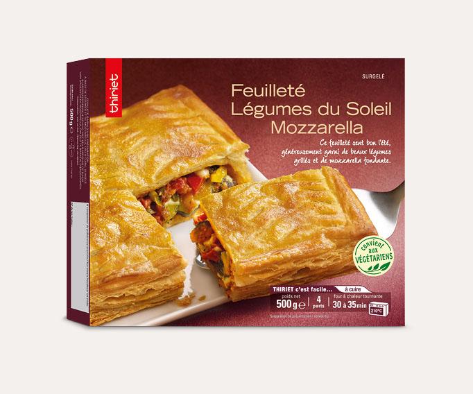 Feuilleté légumes du soleil/mozzarella Lot de 2 boîtes