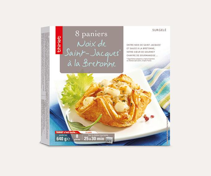 8 Paniers aux noix de St-Jacques** Lot de 2 boîtes
