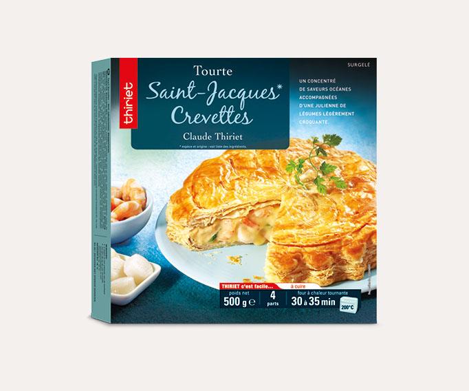 Tourte St-Jacques*/crevettes
