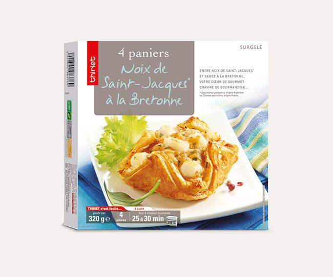 4 Paniers aux noix de St-Jacques** Lot de 2 boîtes