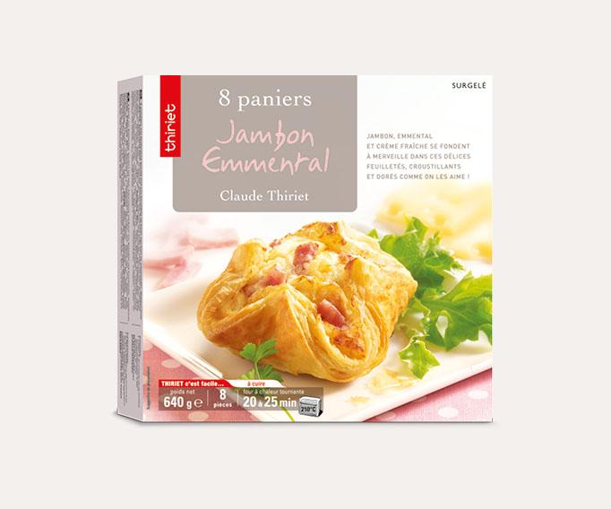 8 Paniers jambon/emmental Lot de 2 boîtes