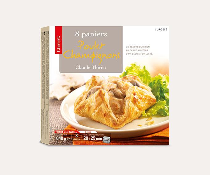 8 Paniers poulet/champignons
