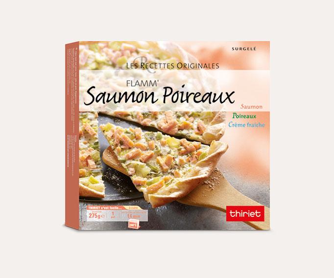 Flamm' saumon/poireaux