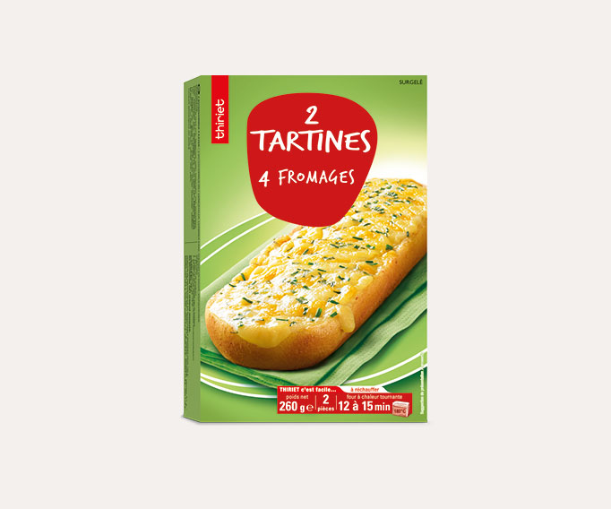 2 Tartines 4 fromages