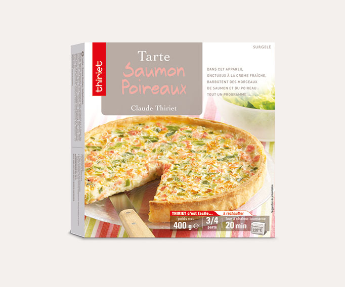 Tarte saumon/poireaux