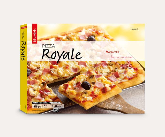Pizzas familiales 2 à 4 parts Lot de 2 boîtes au choix