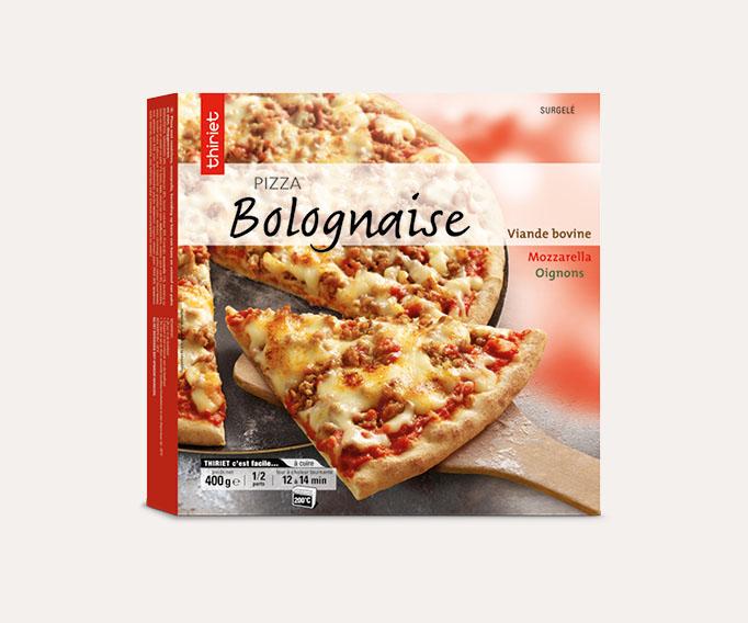 Pizza cuites sur pierre 1 à 2 parts Lot de 2 boîtes au choix
