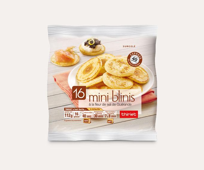 16 Mini blinis à la fleur de sel de Guérande