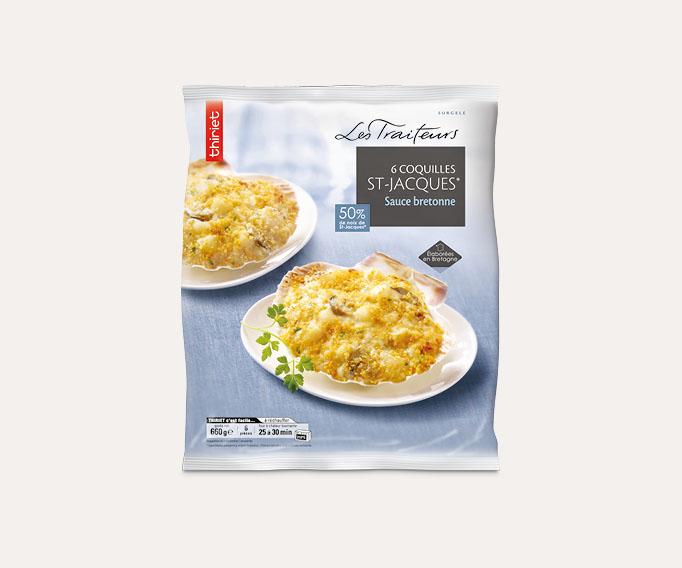 6 Coquilles St-Jacques* sauce Bretonne
