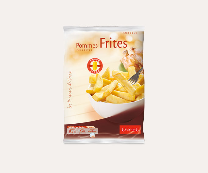 Frites 'coupe large'