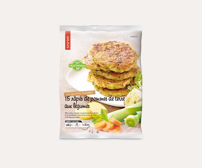 15 Râpés de pommes de terre aux légumes