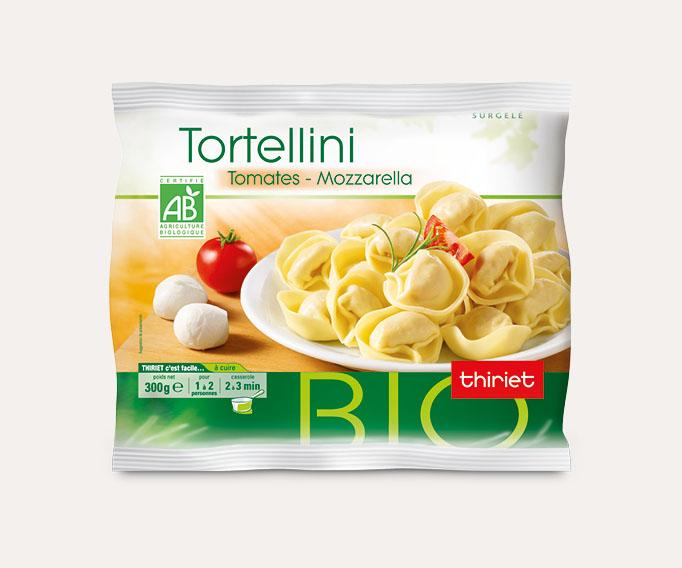 Tortellini tomate/mozzarella biologiques