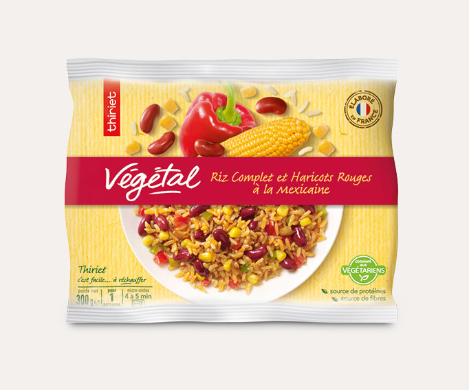 Riz complet et haricots rouges à la mexicaine