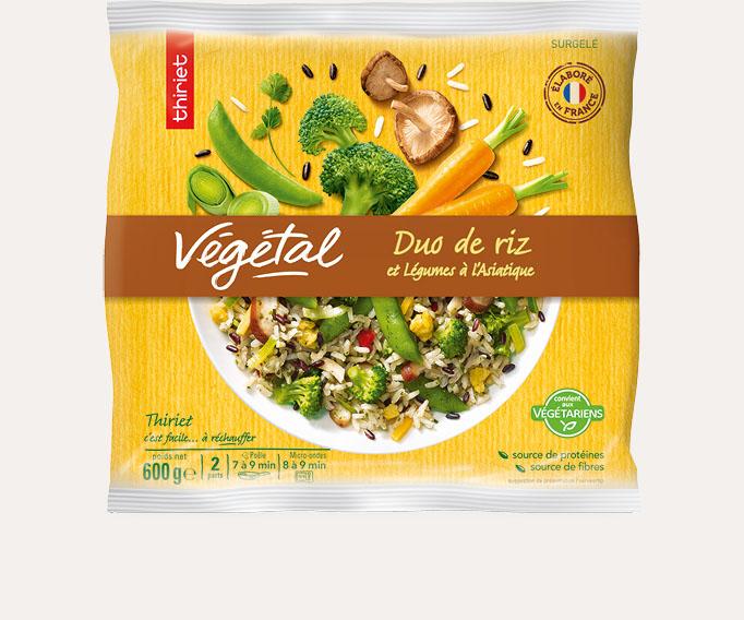 Duo de riz et légumes à l'asiatique