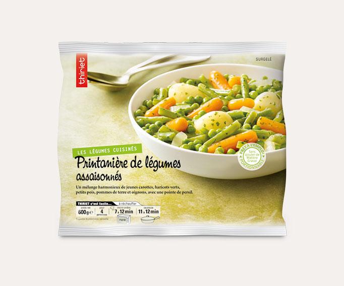 Printanière de légumes assaisonnés
