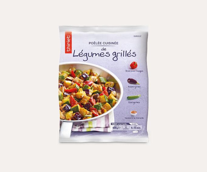 Poêlée cuisinée de légumes grillés