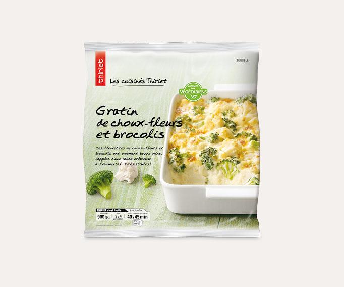 Gratin de choux-fleurs et brocolis