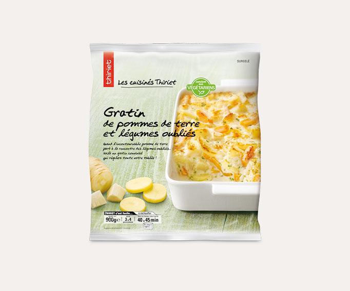 Gratin de pommes de terre et légumes oubliés