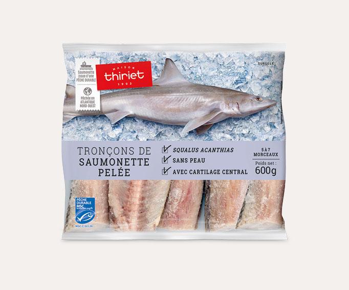 Tronçons de saumonette pelée