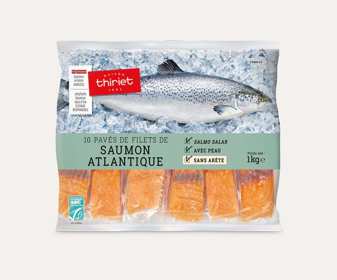10 Pavés de filets saumon Atlantique avec peau