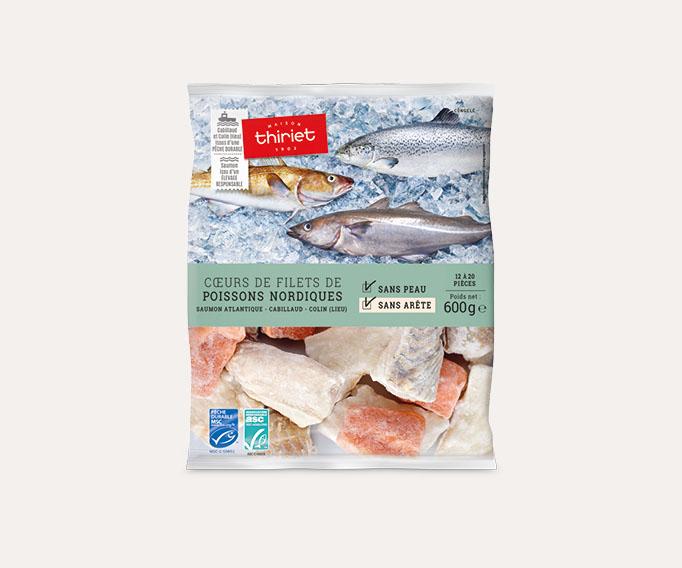 Coeurs de filets de poissons nordiques