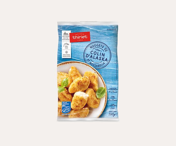 Nuggets de colin d'alaska et mozzarella