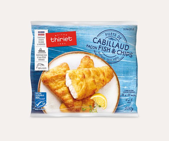 Filets de cabillaud façon fish and chips Lot de 2 sachets
