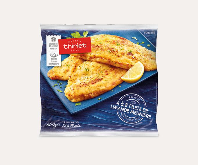 Filets de limande meunière citron/persil Lot de 2 sachets