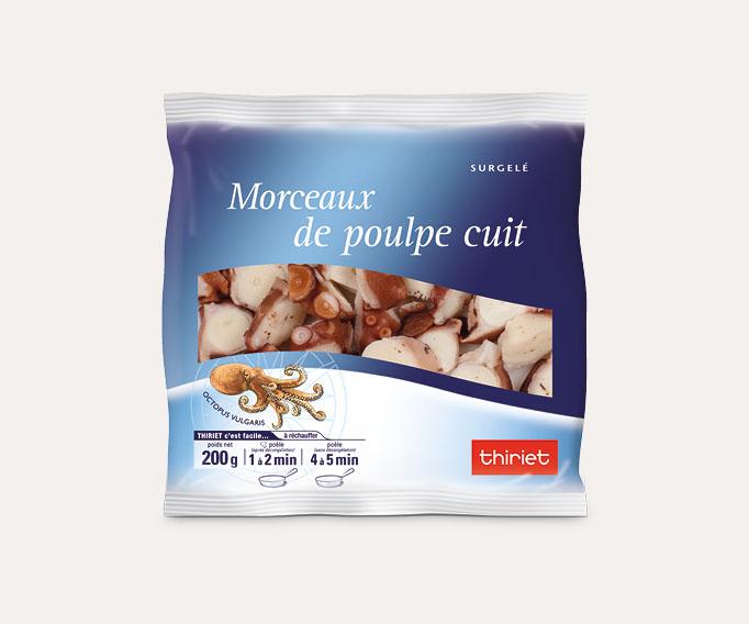 Morceaux de poulpe cuits