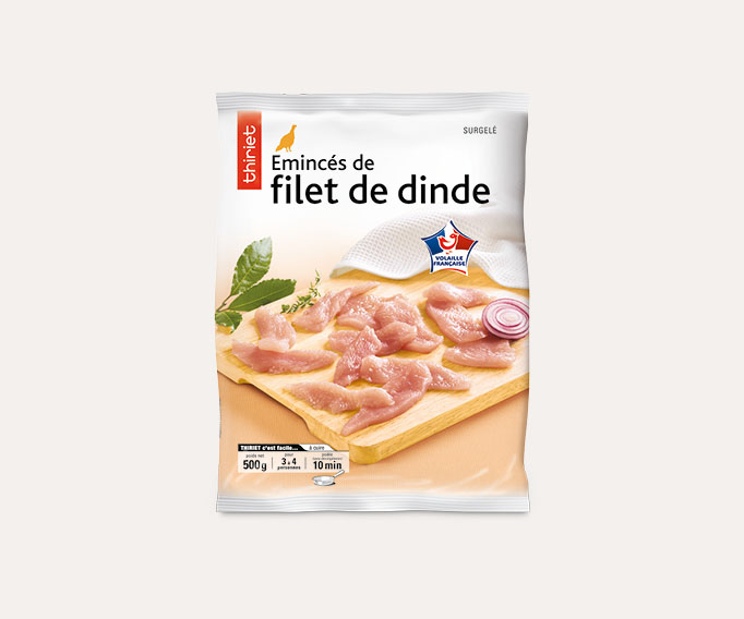 Emincés de filet de dinde
