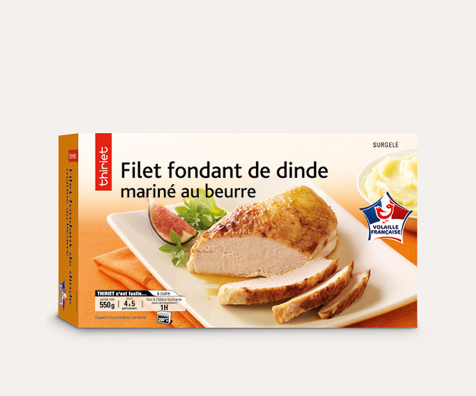 Filet fondant de dinde mariné au beurre