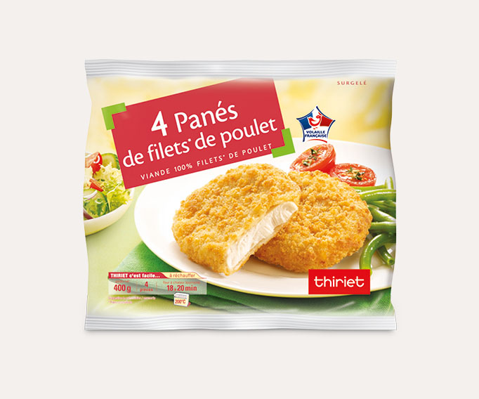 4 Panés de filet de poulet Lot de 2 sachets
