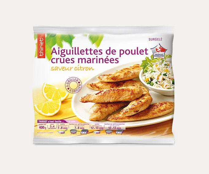 Aiguillettes de poulet marinées saveur citron