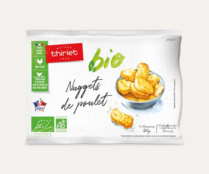 Nuggets de poulet biologiques