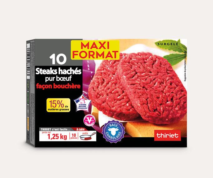 10 Steaks hachés race Charolaise - Maxi format