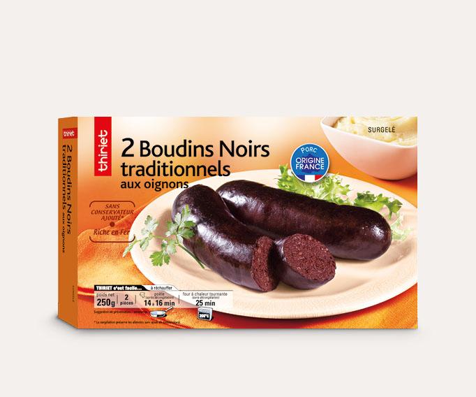 2 Boudins noirs traditionnels aux oignons