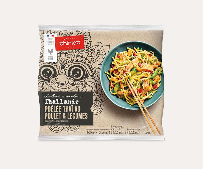 Poêlée thaï au poulet et légumes