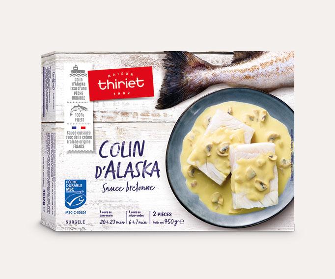 Colin d'Alaska sauce bretonne